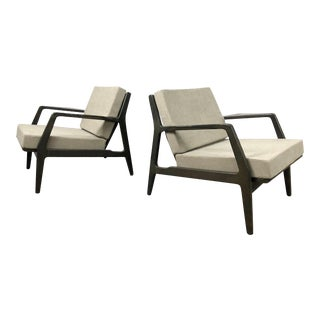 Pair of 1950s Ib Kofod Larsen Lounge Chairs