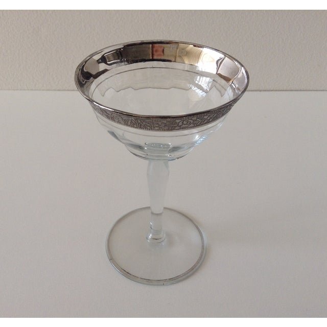 Sterling Floral Etched Cut Champagne Coupes- Set of 6 - Image 6 of 8