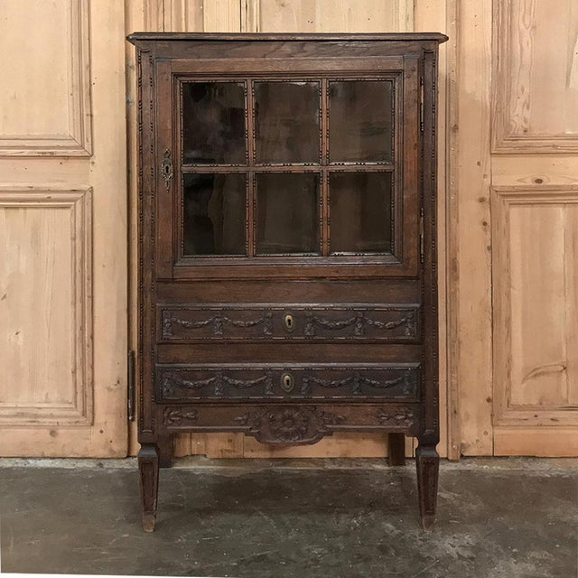 19th Century Country French Louis XVI Vitrine For Sale - Image 13 of 13