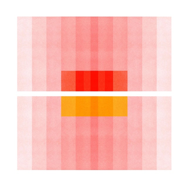 """Color Space Series 27: Pink, Red, Yellow"" Abstract Print - Image 1 of 3"