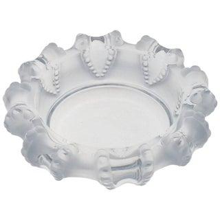 Lalique France Large Crystal Ashtray Bowl Dish