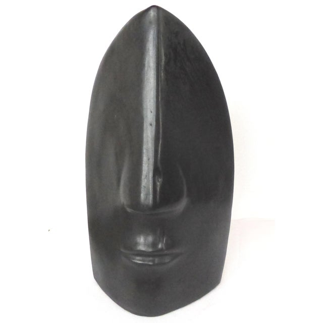 2000s Large Ceramic Figurative Sculpture of a Face by Mexican Artist Yuri Zatarain For Sale - Image 5 of 10