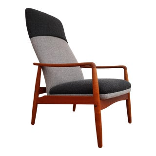 1960s Vintage Søren J. Ladefoged & Søn Danish Swing Lounge Chair For Sale