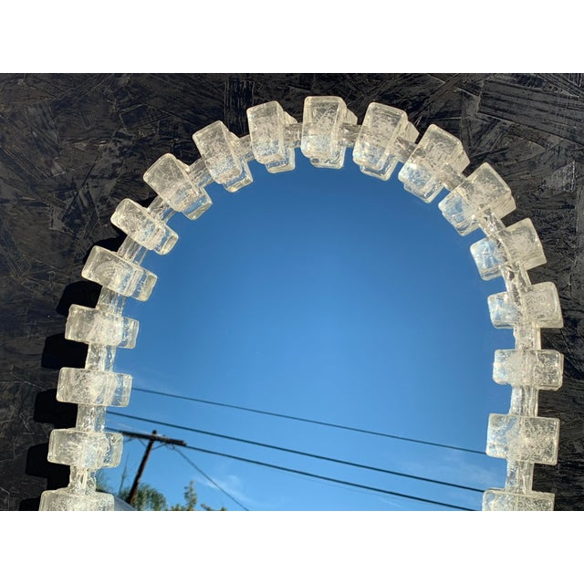 Hollywood Regency Illuminated Acrylic Resin Mirror For Sale - Image 3 of 12