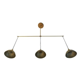 Brass 3-Light Pendant Light For Sale