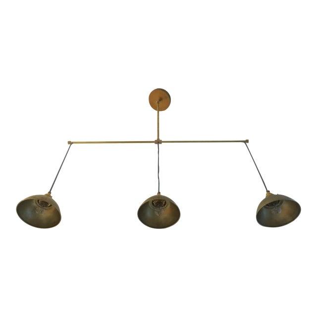 Brass 3-Light Pendant Light For Sale