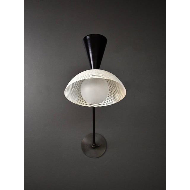 Metal Molto Wall-Mount Reading Lamp in Bronze & Enameled Mesh by Blueprint Lighting For Sale - Image 7 of 9