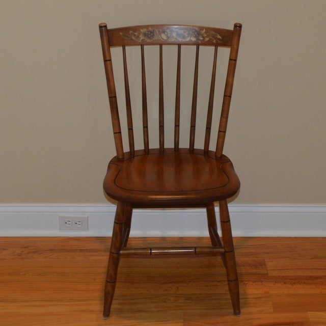 Maple Vintage L. Hitchcock Maple Harvest Dining Side Chair For Sale - Image 7 of 7