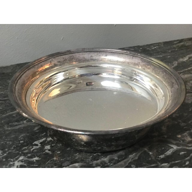 1900 - 1909 English Antique Silver Dish For Sale - Image 5 of 6