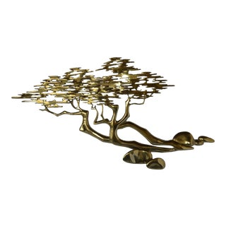 Bijan Brass Bonsai Tree Sculpture