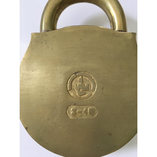 Mid-Century Virginia Metalcrafters Solid Brass Padlock Ashtray/Catchall For Sale - Image 10 of 13