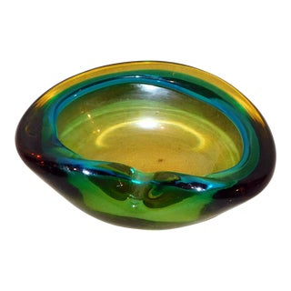 Murano Sommerso Geode Bowl For Sale