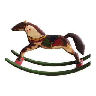 Signed & Dated 1983 J.K.Bear Mini Table Top Rocking Horse For Sale