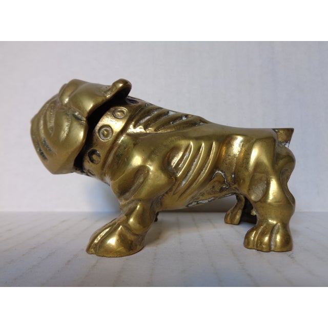Mid-Century Brass Bulldog Figure - Image 2 of 6