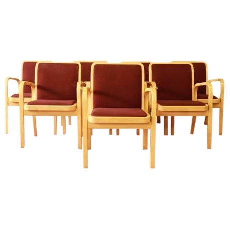 Danish Modern Armchairs by ICF Finland - Set of 8 - Image 1 of 9