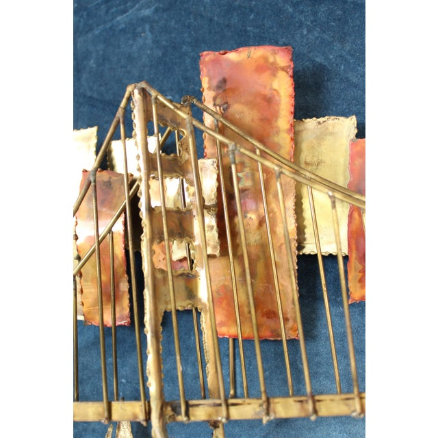 Metal Golden Gate Bridge Mixed Metal Wall Sculpture For Sale - Image 7 of 10