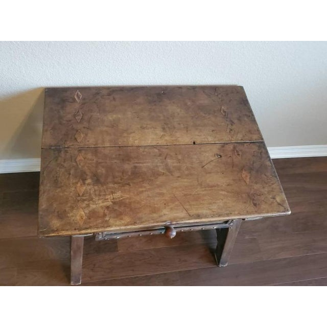 18th Century Rustic Spanish Colonial Low Table For Sale - Image 4 of 11