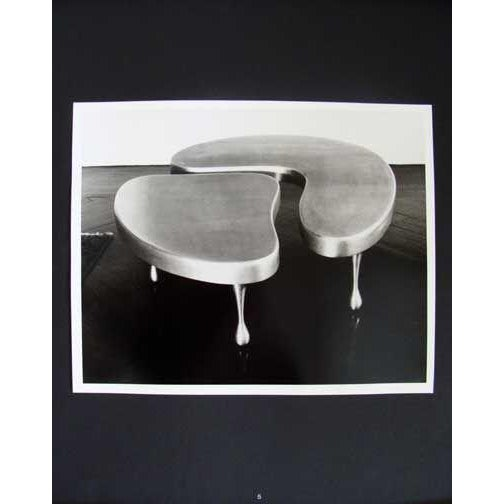 Frederick Kiesler Frederick John Kiesler Cast Aluminium Nesting Coffee Table For Sale - Image 4 of 5