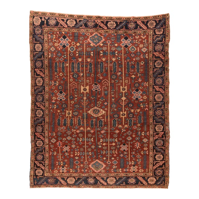 Hand Knotted Persian Heriz Wool For Sale