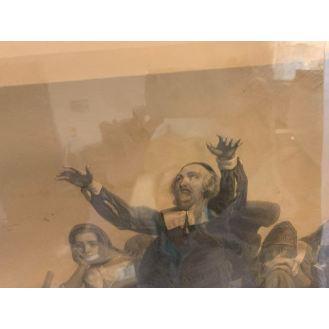 Mid 19th Century Antique French Lithograph in Gold Leaf Frame For Sale - Image 5 of 13