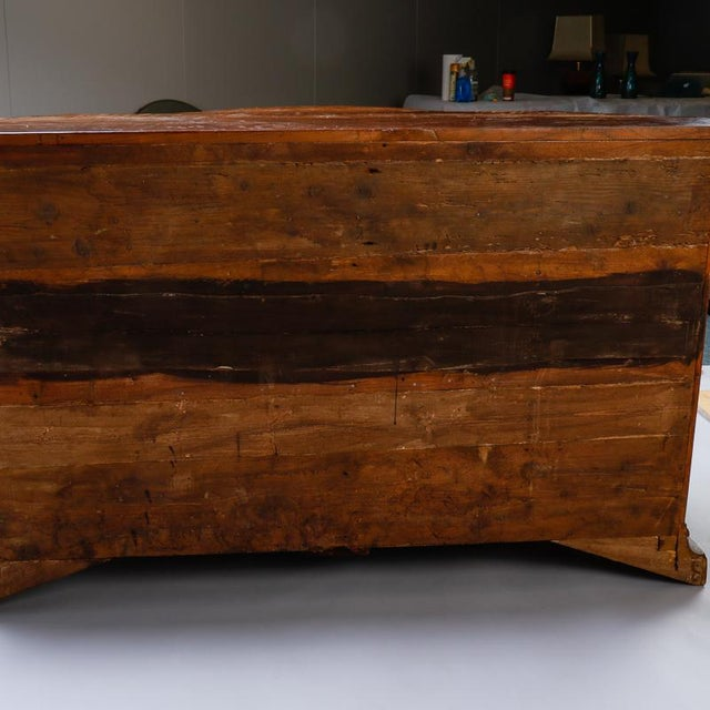 19th Century Burl Walnut Cabinet With Rounded Front and Original Keys For Sale - Image 9 of 10