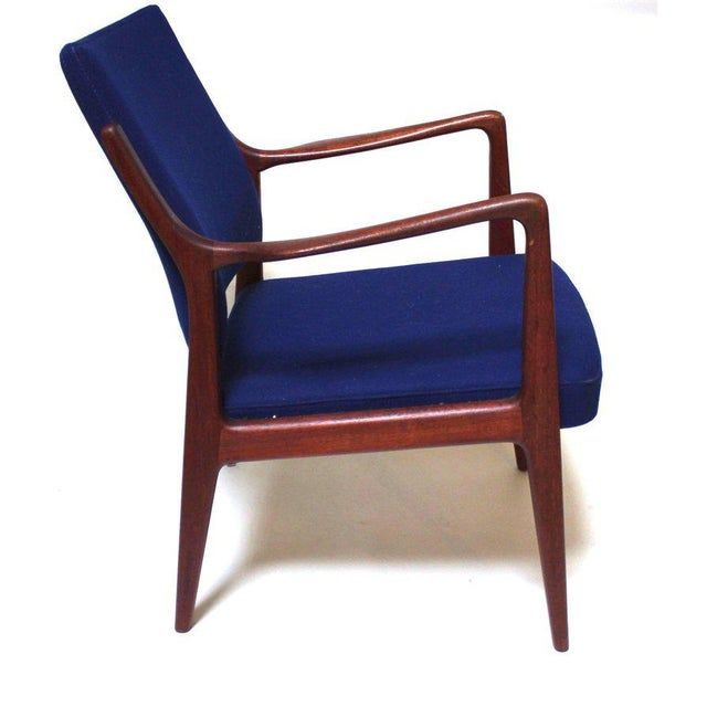 1960s Swedish Modern Teak Lounge Chair For Sale - Image 4 of 11