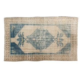 "Vintage Distressed Oushak Carpet - 5'2"" X 8'9"" For Sale"