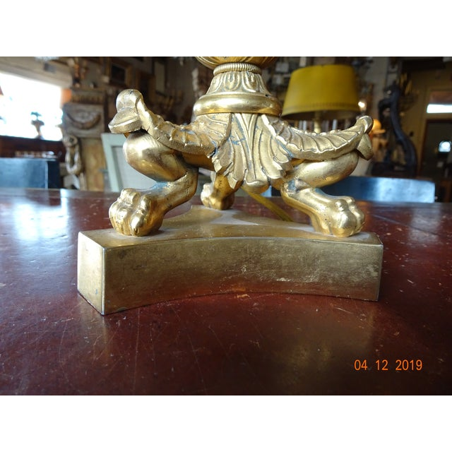 Pair of 19th Century French Bouillotte Lamps For Sale - Image 4 of 12