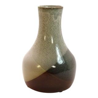 1970s Vintage Pottery Craft Gourd Shape Bud Vase For Sale