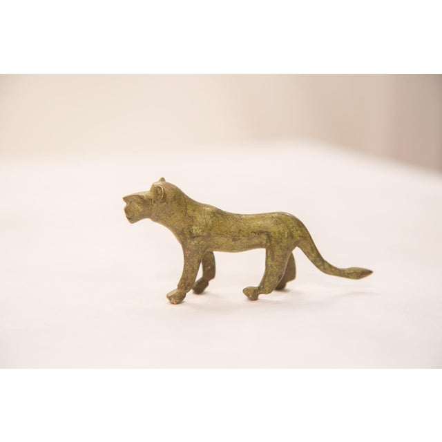 African Vintage Bronze Lioness Figurine / Ashanti Gold Weight For Sale - Image 3 of 5
