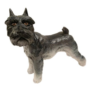Italian Terracotta Terrier Dog Figurine, Vintage For Sale