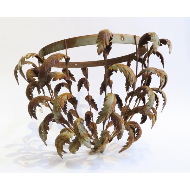 Vintage Metal Leaf Chandelier Frame - Image 6 of 6