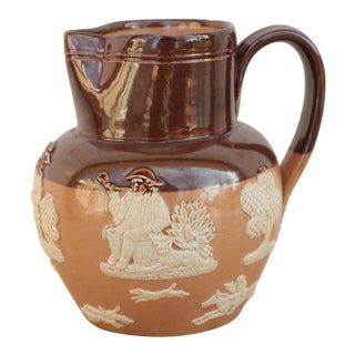 Doulton Lambeth Stoneware Harvest Pitcher For Sale