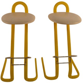 Pair of Italian Stools by Thema For Sale