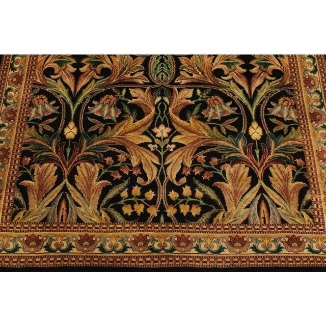 Art Nouveau International Pak-Persian Latanya Black/Ivory Wool Rug - 4'1 X 5'1 For Sale In New York - Image 6 of 8