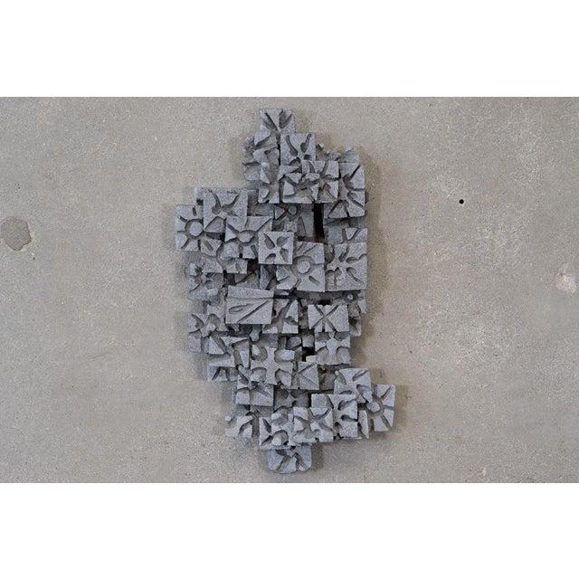 Aluminum Brutalist Wall Art Piece - Image 2 of 4