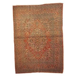 Antique Persian Tabriz Rug - 4′2″ × 5′10″ For Sale