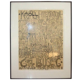 Paul Wunderlich Lithograph for Knoll Art For Sale