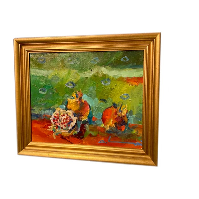 """French French Impressionist Painting by Adrien Moroni, """"Fruits de Grenade"""" For Sale - Image 3 of 9"""