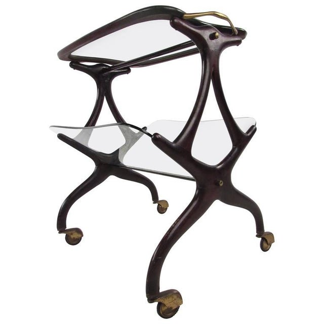 Cesare Lacca Italian Side Table Magazine Rack - Image 3 of 11