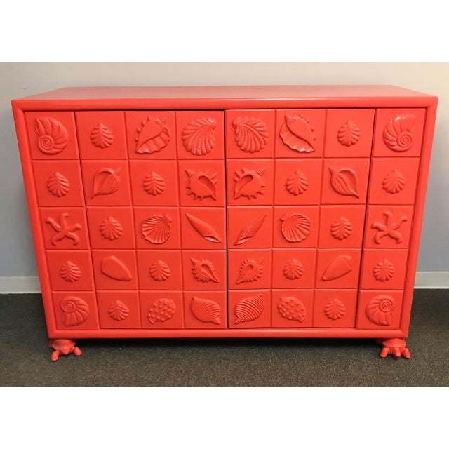 Custom Made Shell Motif Television Cabinet For Sale - Image 11 of 11