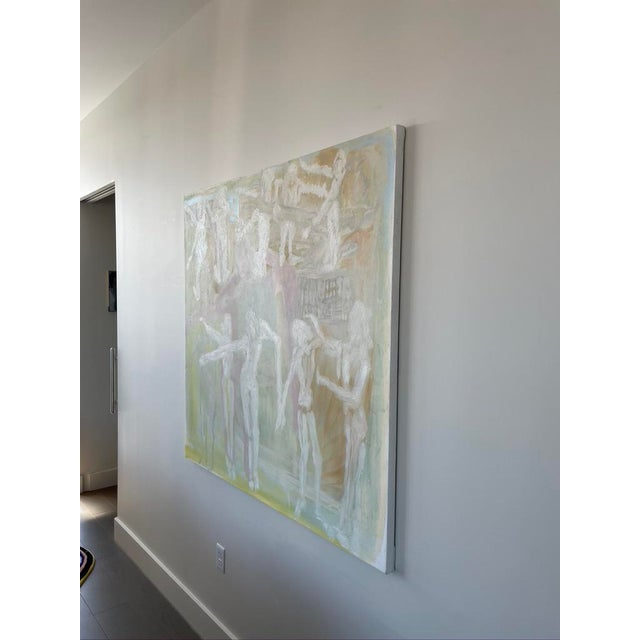 """2020s """"Adam and Eves"""" Contemporary Abstract Expressionist Oil Painting For Sale - Image 5 of 7"""
