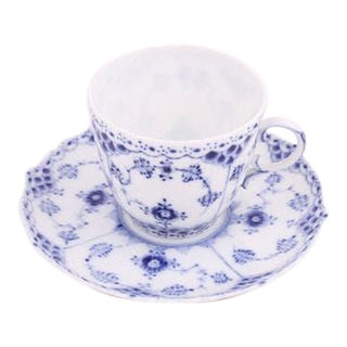 Royal Copenhagen Mini Cup & Saucer - A Pair For Sale