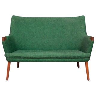 Hans Wegner Ap 20 Sofa, Original Fabric, Denmark, 1950s-1960s For Sale