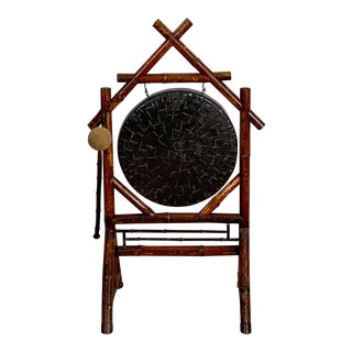 Victorian Bamboo Dinner Gong, England Circa 19th Century For Sale