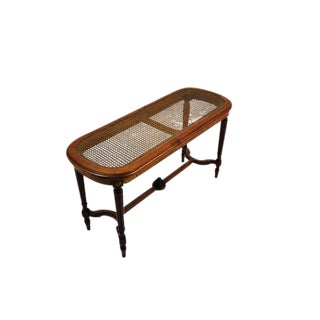 Antique French Imperial Style Cane Coffee Table