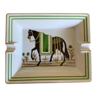 Hermes Horse Large Ashtray Trinket Dish - Mint For Sale