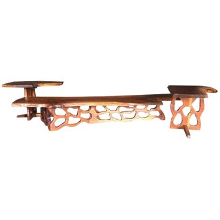 Mid-Century Gino Russo Sculptural Free-Form Walnut Table Suite - Set of 3 For Sale