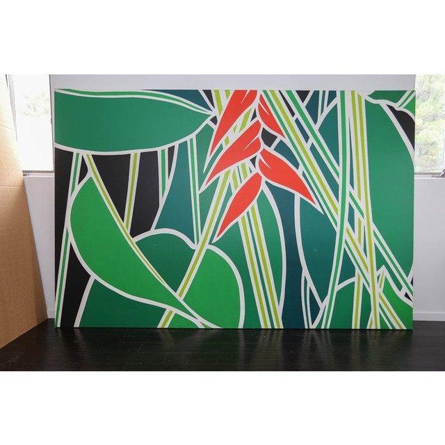 "Ann Bruce Stoddard (American, 20th century) ""Banana Plant"" oil on canvas."