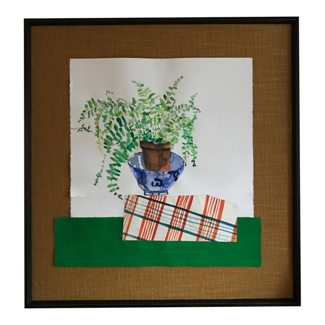 """Scottish Fern"" Watercolor Collage - Image 1 of 4"